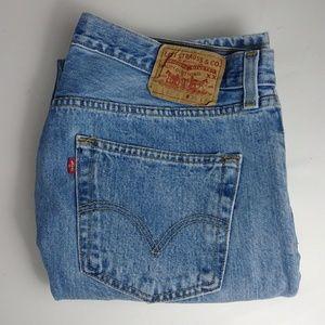 Levi's original 501 blue jeans men's size 36 X 34